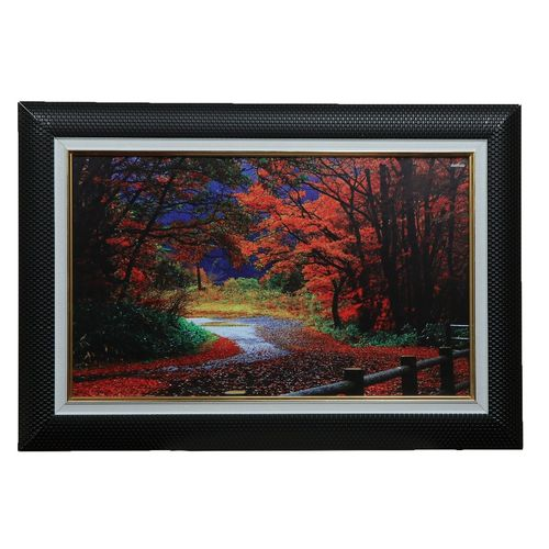 Black Frame Decoration With Forest Design