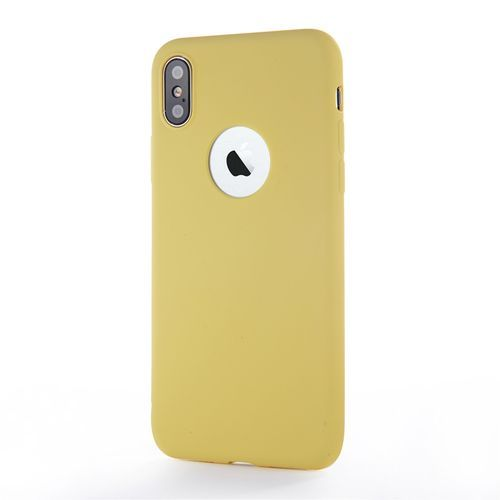 For Ipone 8 Plus Case Cell Phone Case For IPhone Soft Thin Cases Fashion Candy Color Back Cover-Yellow