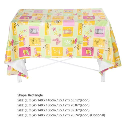Soft Waterproof Anti - Oil Anti-hot PVC Table Cloth High Quality Dining Kitchen Table Cover Protector Party Decor