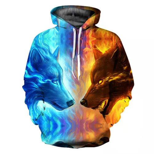 New Fashion Flame 3D Printed Hoodies