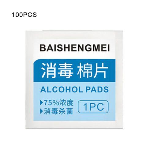100Pcs 75% Alcohol Wipes Prep Pads Disposable Sheet White