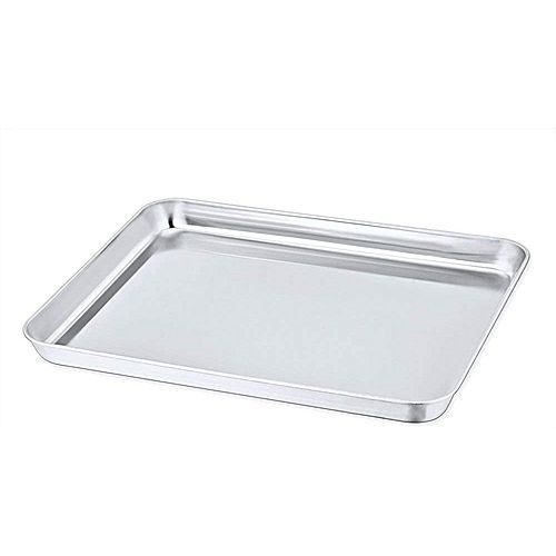 Toaster Oven Pan,Chef Stainless Steel Toaster Oven Tray Bakeware, Rectangle Non Toxic & Healthy, Rust Free,Mirror Finish & Easy Clean
