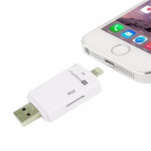 New Arrivel USB Flash Drive OTG SD TF Card Reader For Iphone And Ipad White