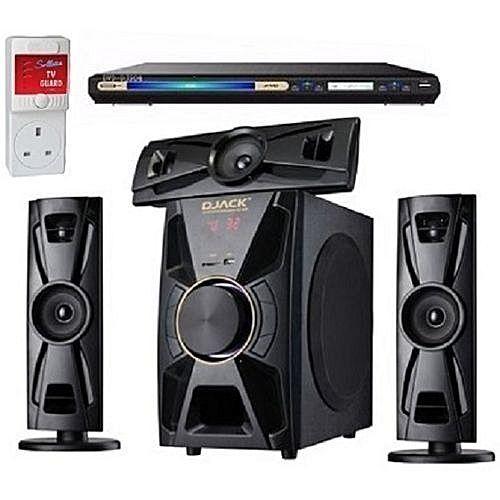 Djack X-Bass 3.1CH Bluetooth Home Theatre System DJ-403 + LG DVD PLAYER + Power Surge