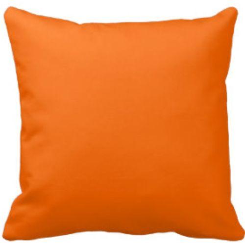 Plain Orange Throw Pillow