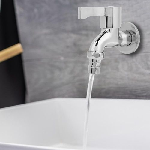 """G1/2"""" Copper Laundry Bathroom Washing Home Machine Wall Mounted Water Faucet Single Cold Tap"""