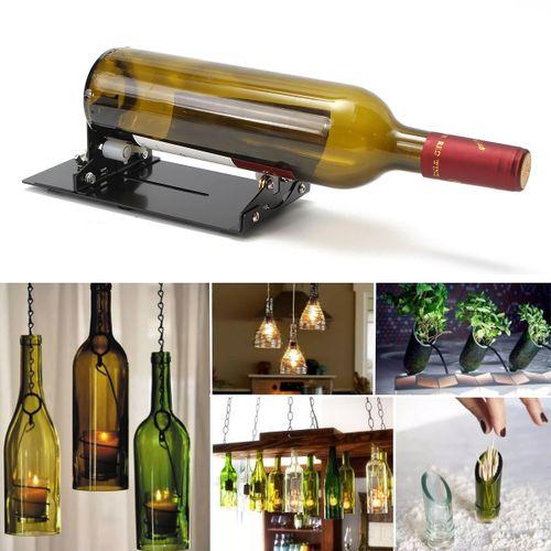 Vintage Wine Beer Glass Bottle Cutter Machine Jar Recycle Cutting Tool Kit Craft Black