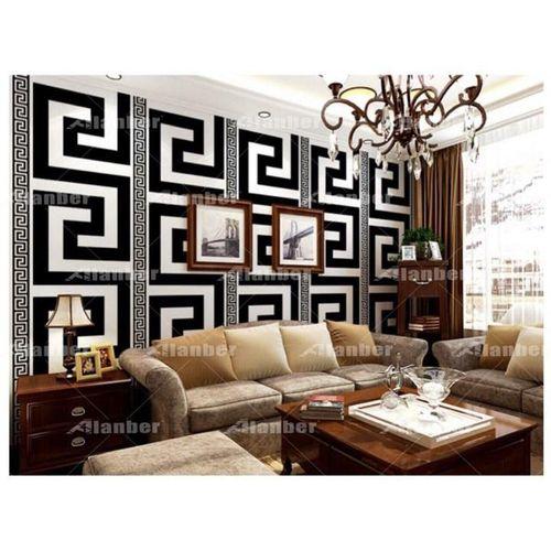 3D PVC Wall Paper Black & White Antique