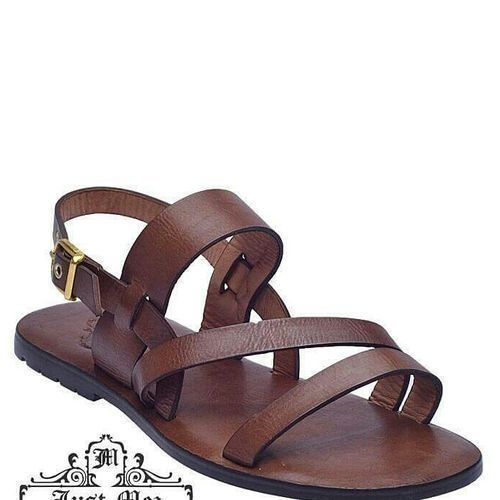 Unique Men's Leather Sandal - Brown/Brown