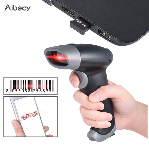 Aibecy Handheld Wireless USB2.0 Wired CCD Barcode Scanner