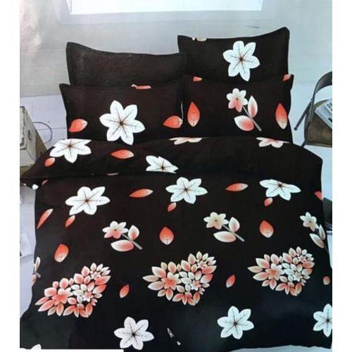 Flowery Duvet+Bedsheet With Pillow Cases+D-Bag