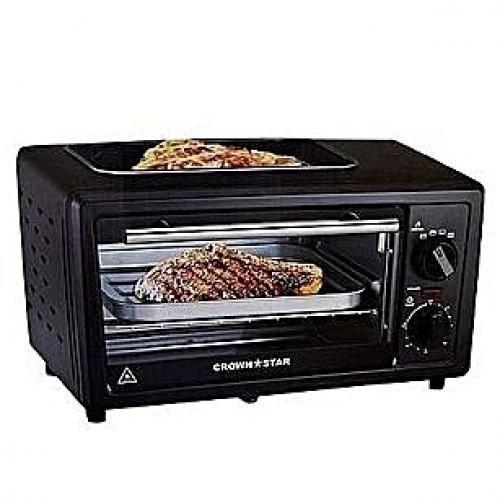 11L Toaster Oven, Baking + Toasting +Grilling With Top Grill