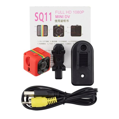 OR SQ11 Mini Portable Camera 1080P HD Camcorder Lithium Battery Sports DV-red