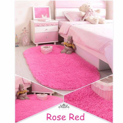Anti-Skid Shaggy Fluffy Rugs Dining Room Home Carpet Floor Mat