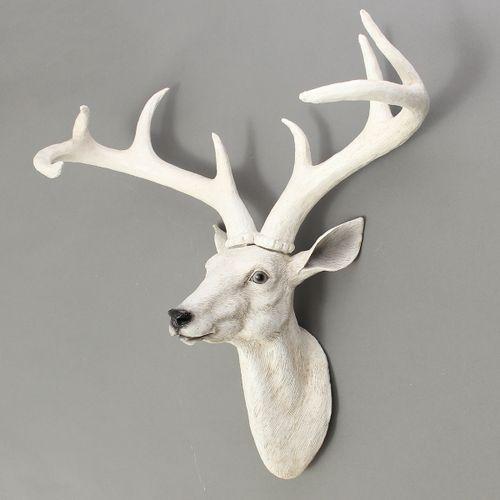 DIY Modern Resin Deer Head Antler Wall Mount Ornament Mantel Staging Home Decor
