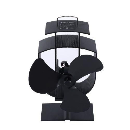 3 Blade Ventilator Fireplace Fan Thermal Power Professional Black