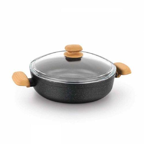 Korkmaz A1245 Montana Granite Short Cooking Pot 28 X 7.5 Cm