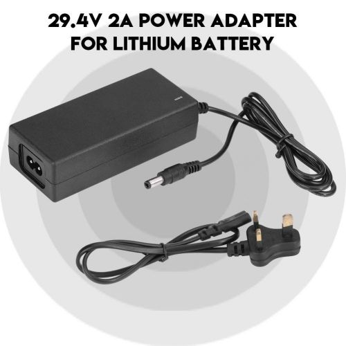 2A Power Adapter Safe Charging Charger Power Supply Adapter Cable For Lithium Battery UK Plug