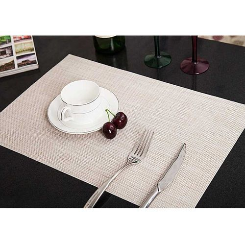 Hot Modern 4PCS/Lot Heat Resistant PVC Kitchen Dinning Grid Table Insulation Placemats Ultra Thick Doilies Cup Mats Coaster Pad HIS