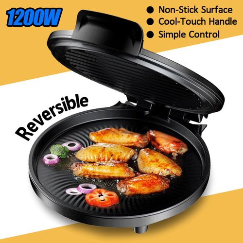Smokeless Electric Grill Plate Crepe Maker Non Stick Griddle Plate Indoor