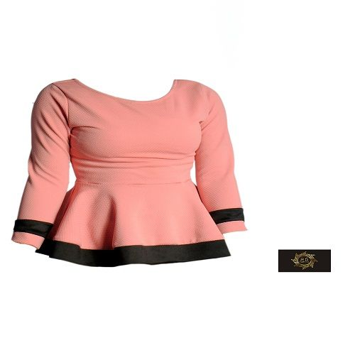 A Two Toned Peplum Top