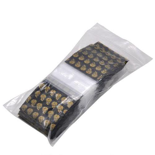 100 Pcs Plastic Packaging Bag Printing Plastic Plastic Bag Ziplock Pocket Sealed Storage Bag Skull Pattern Portable Accessories