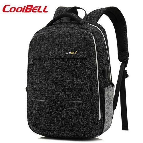 Waterproof Laptop Backpack With USB Charging - Grey