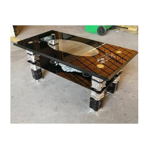 Elegant Tempered Glass Coffee Center Table