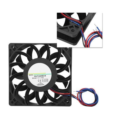 Qianmei(Extra 20%Off) 1224KBE-36 DC24V 1.14A 12CM Inverter Transmission Server Fast Heat Dissipation Cooling Fan