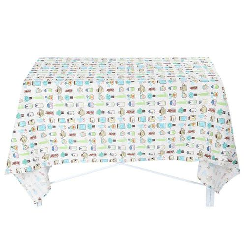 Cotton Linen Tablecloth Decorative Cartoon Pattern Dinning Table Cover