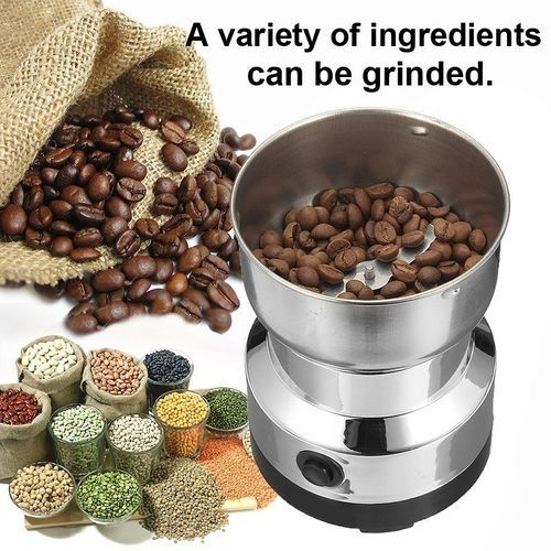 220V Electric Stainless Steel Grinding Milling Machine Coffee Bean Grinder Sliver