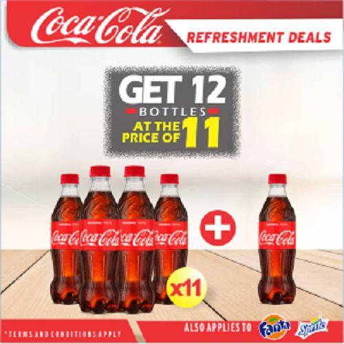 Coca Cola Refreshment Deal - Buy 11 Bottles Of Coke 35cl PET & Get 1 Bottle FREE!!!