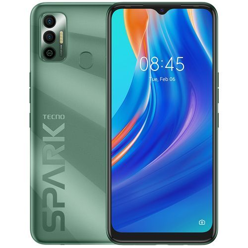 "Spark 7 (KF6i) 6.5"" HD+, 64GB ROM + 3GB RAM, 500mAh, 16MP Dual Camera + 8MP Selfie, 4G, Fingerprint - Spruce Green"