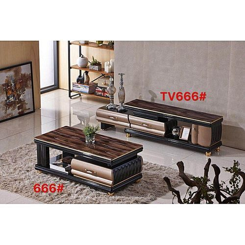 Modern Living Room TV Stand And Table With Drawers