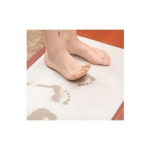 Natural Diatomaceous Earth Absorbent Pad Diatom Mud Floor Mat Bathroom Grey