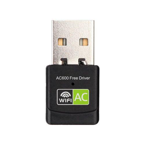 Free Drive Wireless Network Card 600M Mini Wifi Receiver Antenna Black