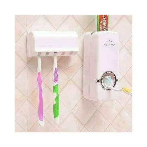 Toothpaste Dispenser And Brush Holder