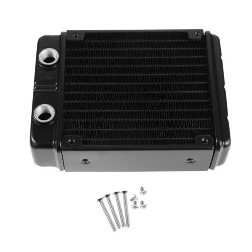 120mm / 240mm 24 Tubes G1 4 Thread Water Cooler Cooling Dual Dissipation Black