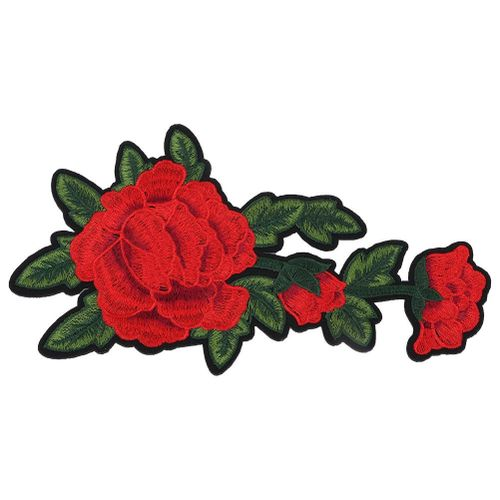 Clothing Embroidered Patch Rose DIY Decoration Iron Sew Sticker Applique Craft Accessories