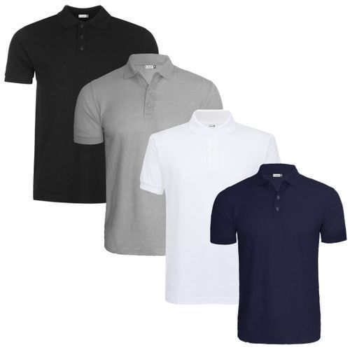 Polo Shirt With Buttons & Collar (4 Shirts)