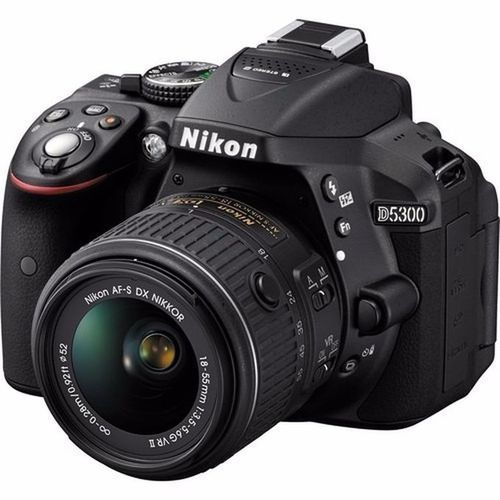 D5300 DSLR Camera With AF-P 18-55mm Lens - Black