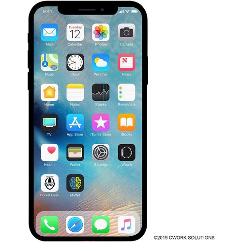 IPhone X 5.8-Inches (3GB RAM, 256GB ROM) IOS 11.1.1, (12MP + 12MP) + 7MP 4G LTE Smartphone - Silver