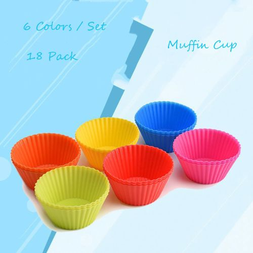 18PC Kitchen Craft Cake Cup Chocolate Liners Baking Cupcake Cases Muffin 7CM