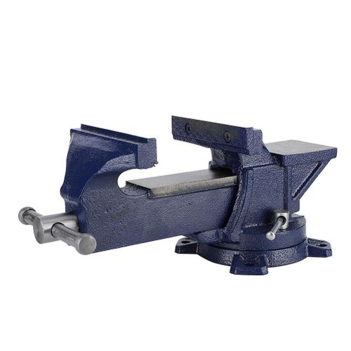 """5"""" Bench Vise 360° Swivel Base Heavy Duty Tabletop Clamp With Anvil"""