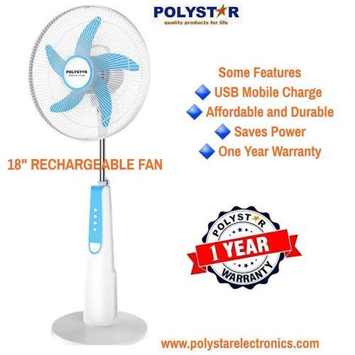 """18"""" Rechargeable Standing Fan....with LED LAMPl"""