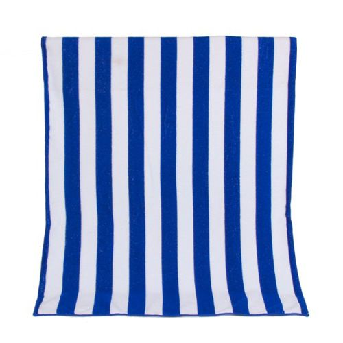 Quick-Drying Absorbent Beach Towel Seaside Double Striped Beach Towel Blue