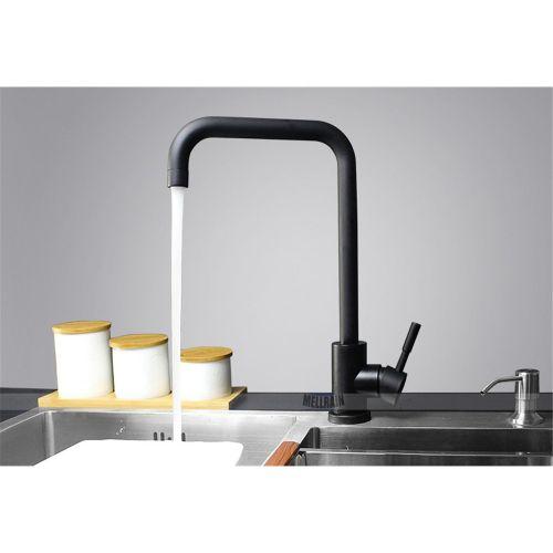 Bathroom Black Color Kitchen Faucet SUS304 Material
