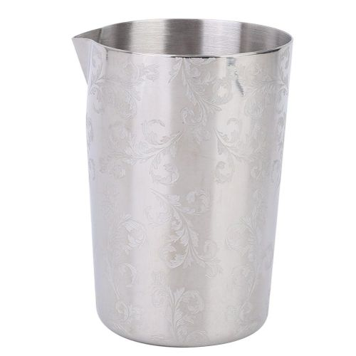 500ml Durable Stainless Steel Bar Beer Cocktail Mixing Cup Wide Mouth Mug