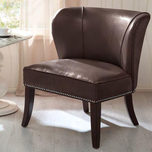 Demsa Slipper Chair - Brown