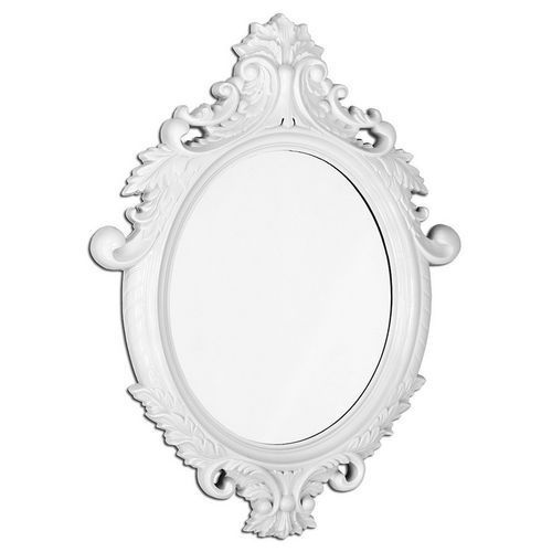 White Vintage Oval Large Mirror